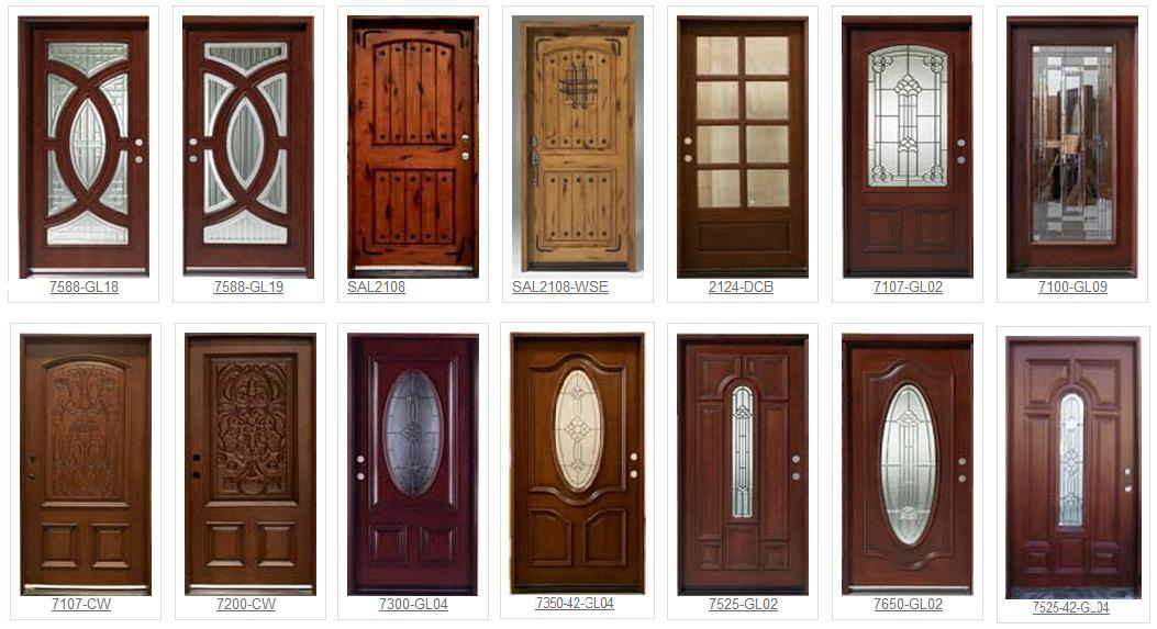 Exterior solid wood door in chinese cherry pictures for Solid wood front doors