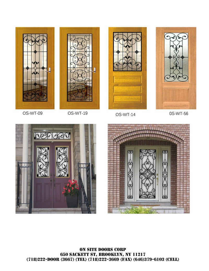 Decolux doors architectural wood products wrought iron for Door design catalog